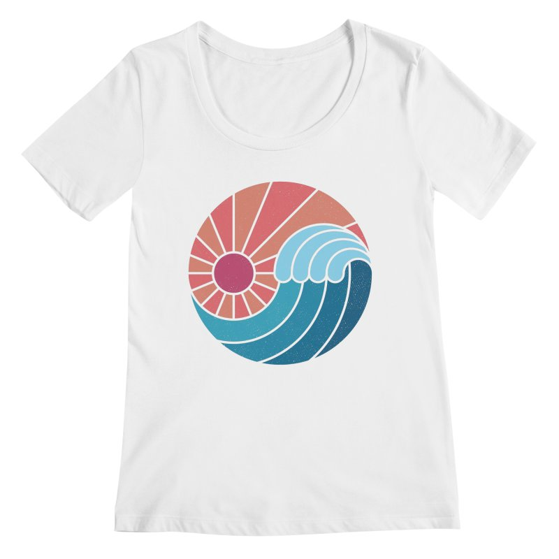 Sun & Sea Women's Scoop Neck by thepapercrane's shop