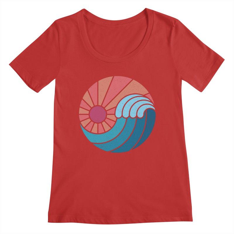 Sun & Sea Women's Scoop Neck by thepapercrane's shop