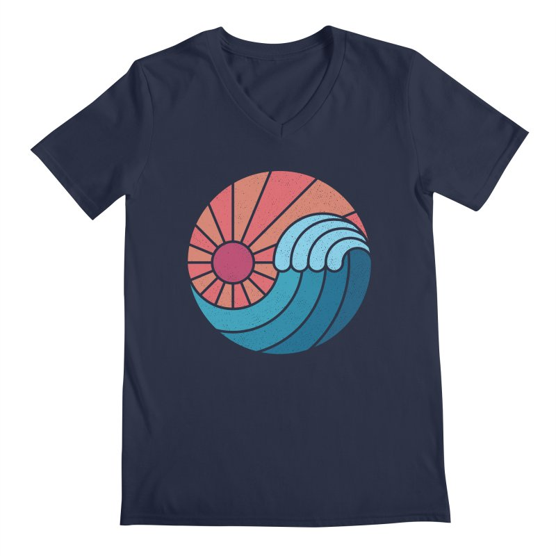 Sun & Sea Men's V-Neck by thepapercrane's shop