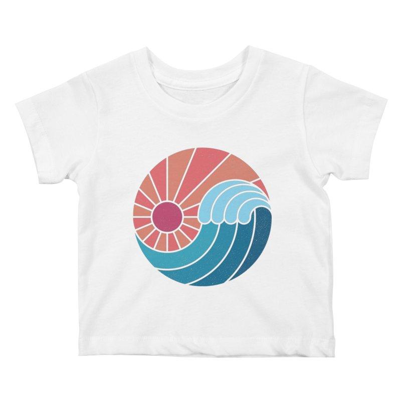 Sun & Sea Kids Baby T-Shirt by thepapercrane's shop