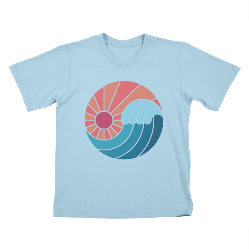 Sun & Sea Kids T-Shirt by thepapercrane's shop