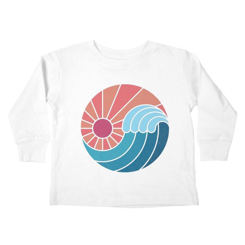 Sun & Sea Kids Toddler Longsleeve T-Shirt by thepapercrane's shop