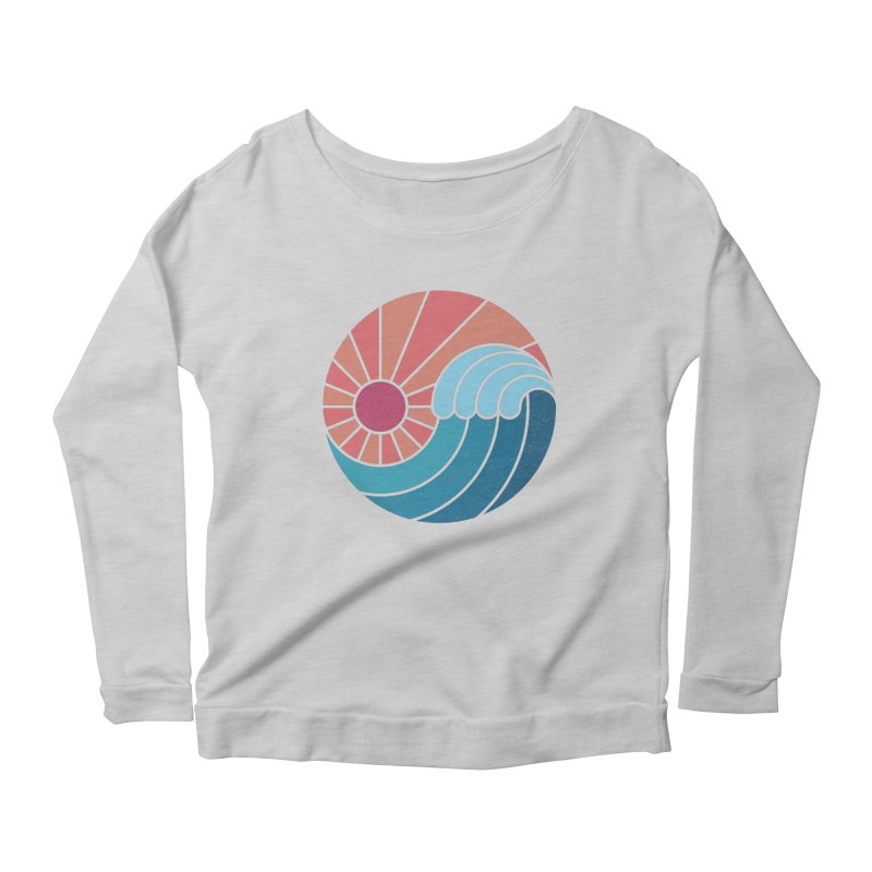Sun & Sea Women's Scoop Neck Longsleeve T-Shirt by thepapercrane's shop