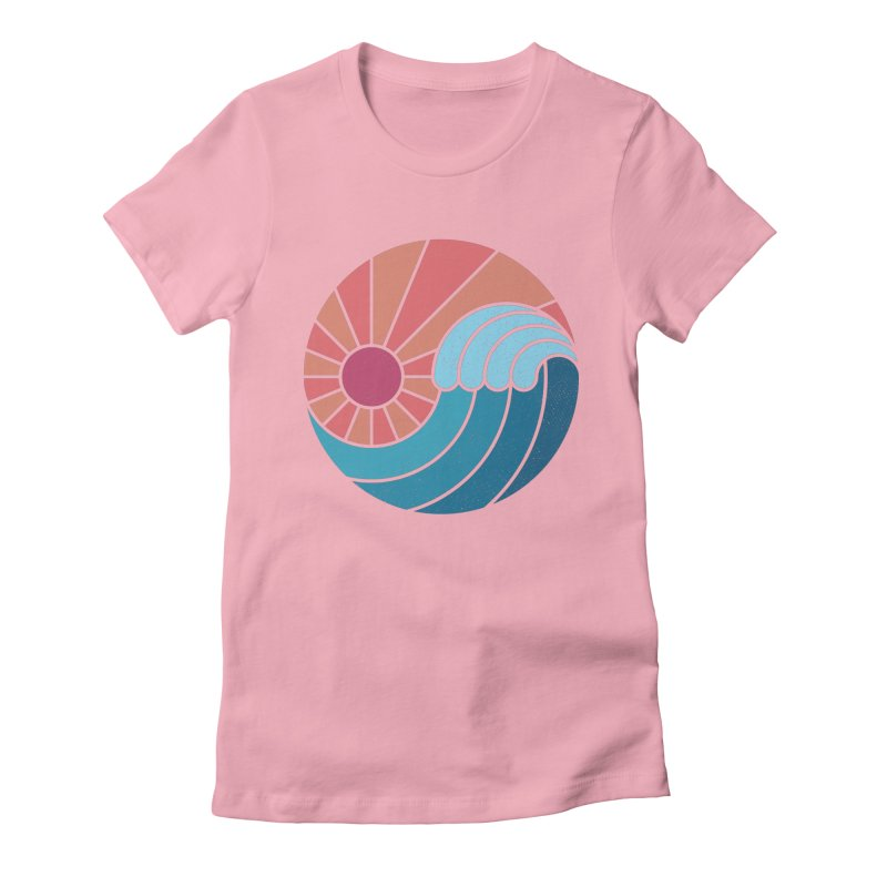 Sun & Sea Women's Fitted T-Shirt by thepapercrane's shop