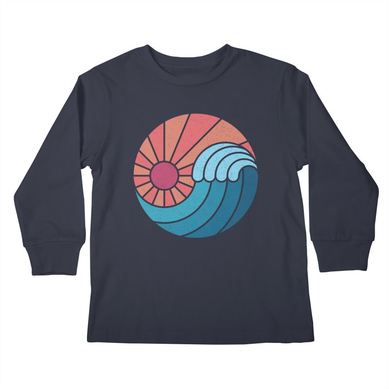 Sun & Sea Kids Longsleeve T-Shirt by thepapercrane's shop