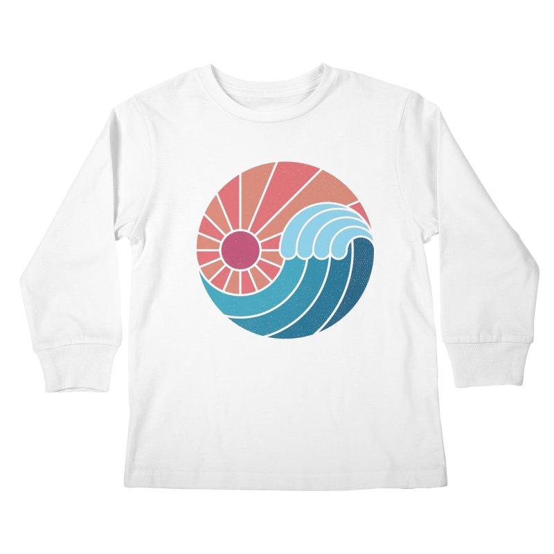 Sun & Sea Kids Longsleeve T-Shirt by thepapercrane's shop