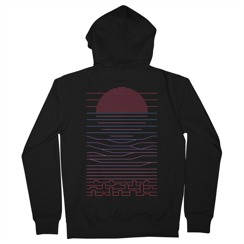 Leave The City For The Sea Women's French Terry Zip-Up Hoody by thepapercrane's shop