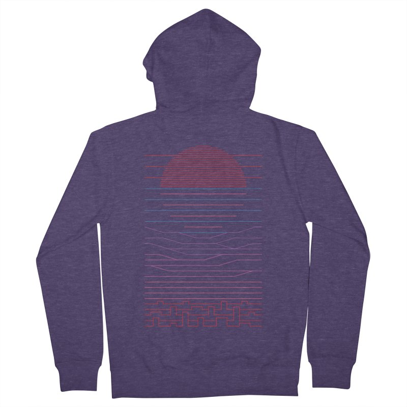 Leave The City For The Sea Men's French Terry Zip-Up Hoody by thepapercrane's shop