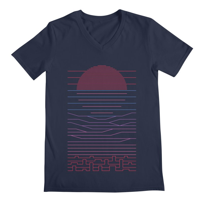 Leave The City For The Sea Men's V-Neck by thepapercrane's shop