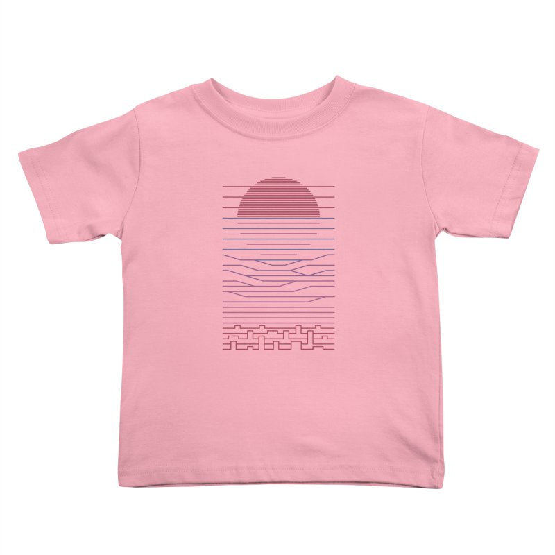 Leave The City For The Sea Kids Toddler T-Shirt by thepapercrane's shop