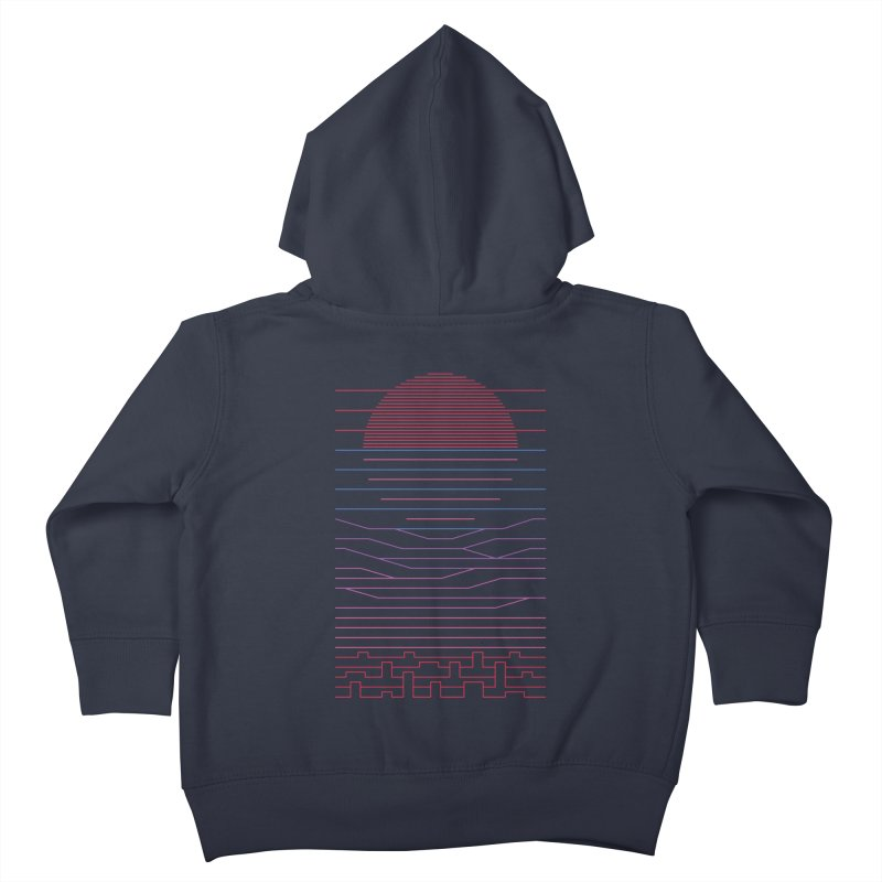 Leave The City For The Sea Kids Toddler Zip-Up Hoody by thepapercrane's shop