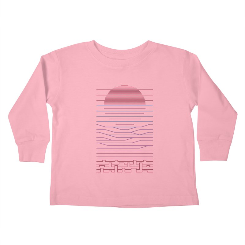 Leave The City For The Sea Kids Toddler Longsleeve T-Shirt by thepapercrane's shop