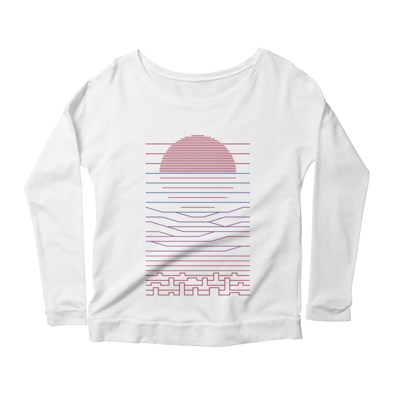 Leave The City For The Sea Women's Scoop Neck Longsleeve T-Shirt by thepapercrane's shop