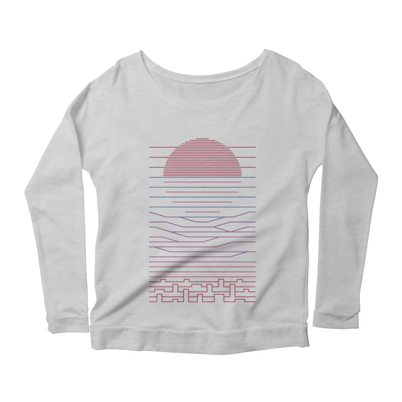Leave The City For The Sea Women's Longsleeve Scoopneck  by thepapercrane's shop