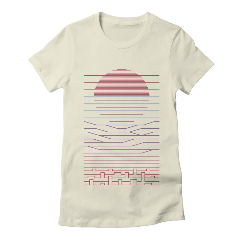 Leave The City For The Sea Women's Fitted T-Shirt by thepapercrane's shop