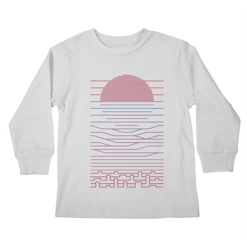 Leave The City For The Sea Kids Longsleeve T-Shirt by thepapercrane's shop