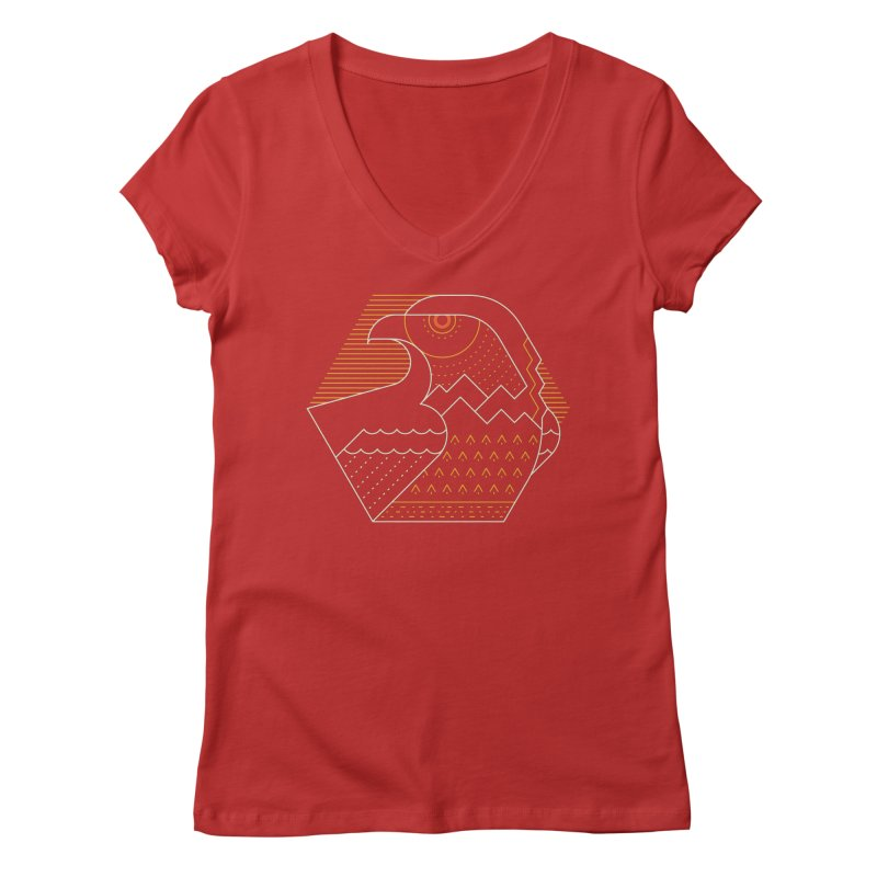 Earth Guardian Women's V-Neck by thepapercrane's shop