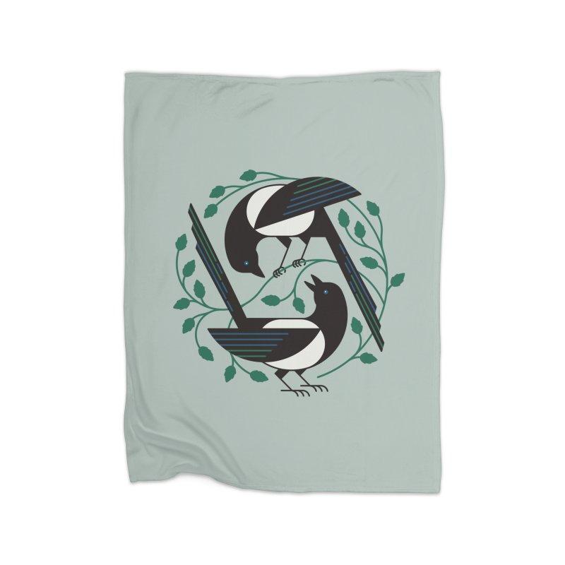 The Joy Of Spring Home Fleece Blanket Blanket by thepapercrane's shop