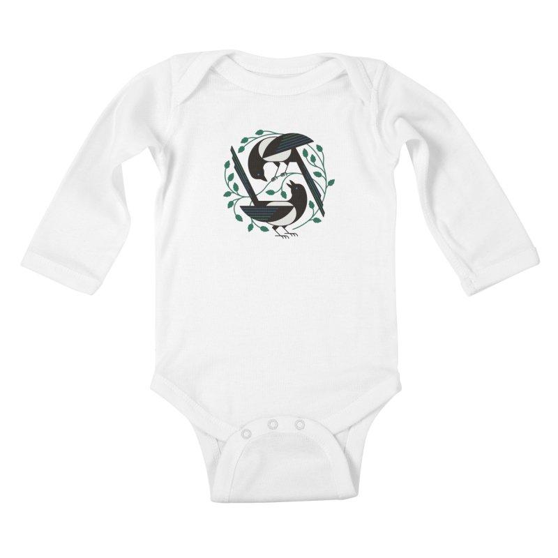 The Joy Of Spring Kids Baby Longsleeve Bodysuit by thepapercrane's shop