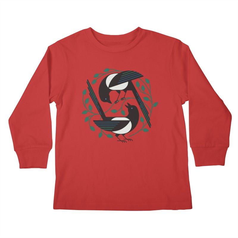 The Joy Of Spring Kids Longsleeve T-Shirt by thepapercrane's shop