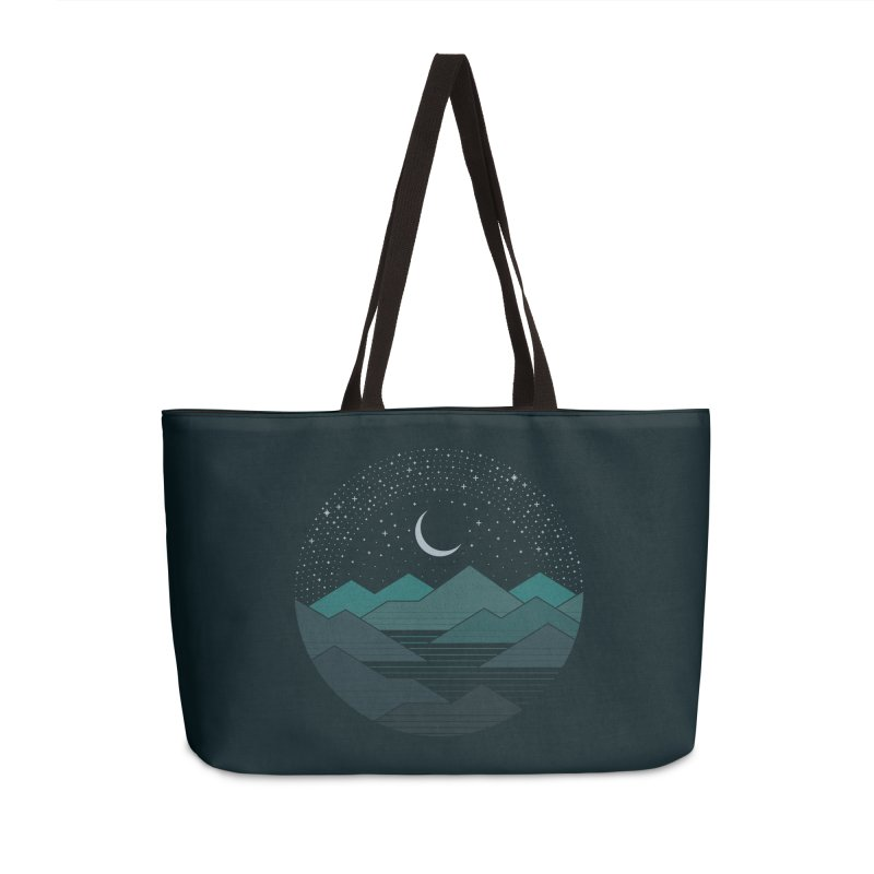 Between The Mountains And The Stars Accessories Weekender Bag Bag by thepapercrane's shop