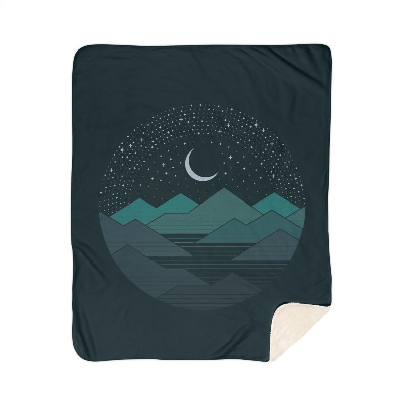 Between The Mountains And The Stars Home Blanket by thepapercrane's shop