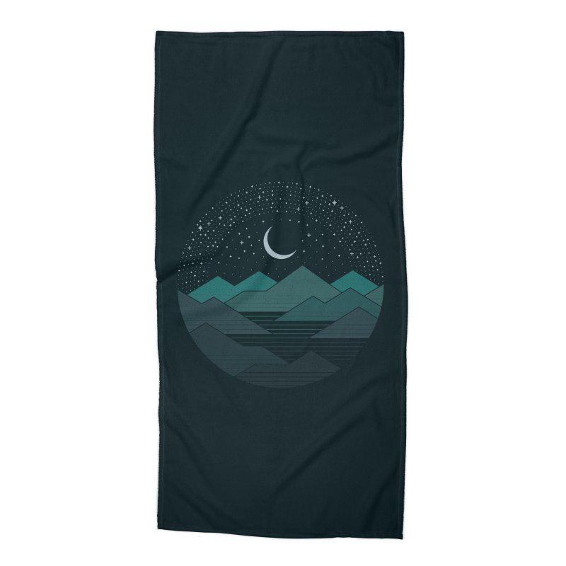 Between The Mountains And The Stars Accessories Beach Towel by thepapercrane's shop
