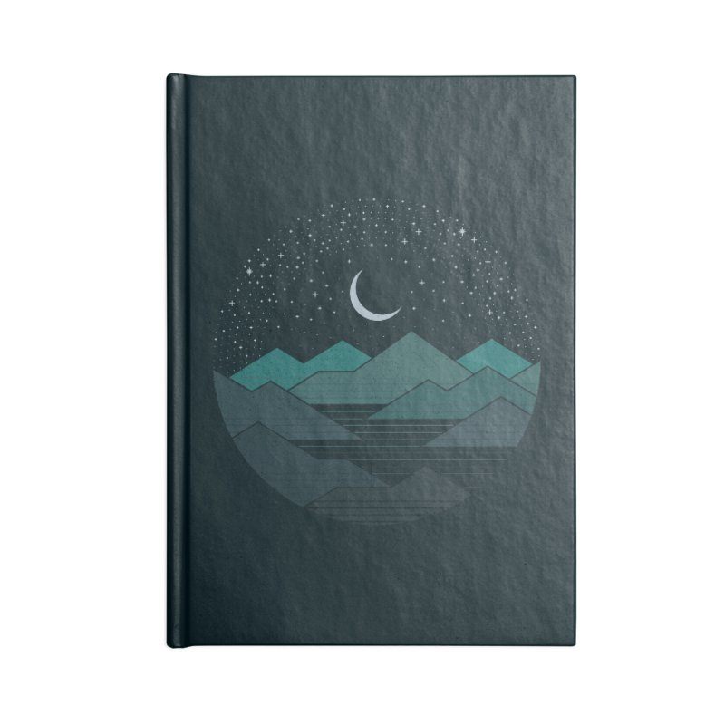 Between The Mountains And The Stars Accessories Lined Journal Notebook by thepapercrane's shop