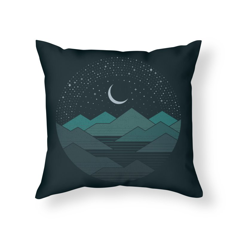 Between The Mountains And The Stars Home Throw Pillow by thepapercrane's shop