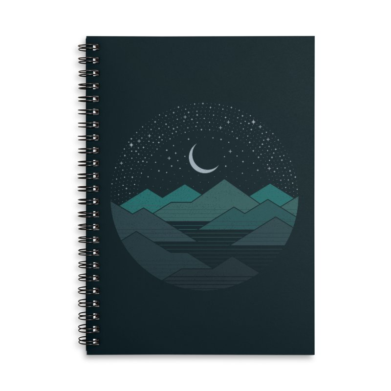 Between The Mountains And The Stars Accessories Notebook by thepapercrane's shop