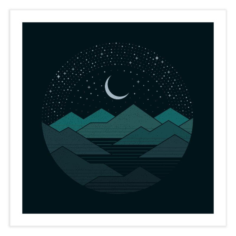 Between The Mountains And The Stars Home Fine Art Print by thepapercrane's shop