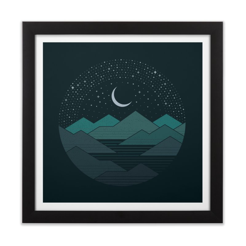 Between The Mountains And The Stars Home Framed Fine Art Print by thepapercrane's shop
