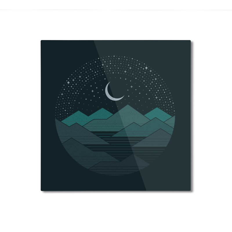 Between The Mountains And The Stars Home Mounted Aluminum Print by thepapercrane's shop