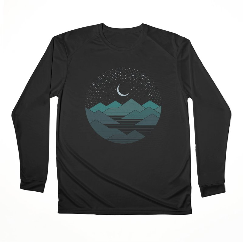 Between The Mountains And The Stars Men's Longsleeve T-Shirt by thepapercrane's shop