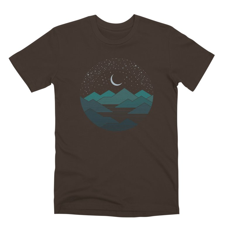 Between The Mountains And The Stars Men's Premium T-Shirt by thepapercrane's shop