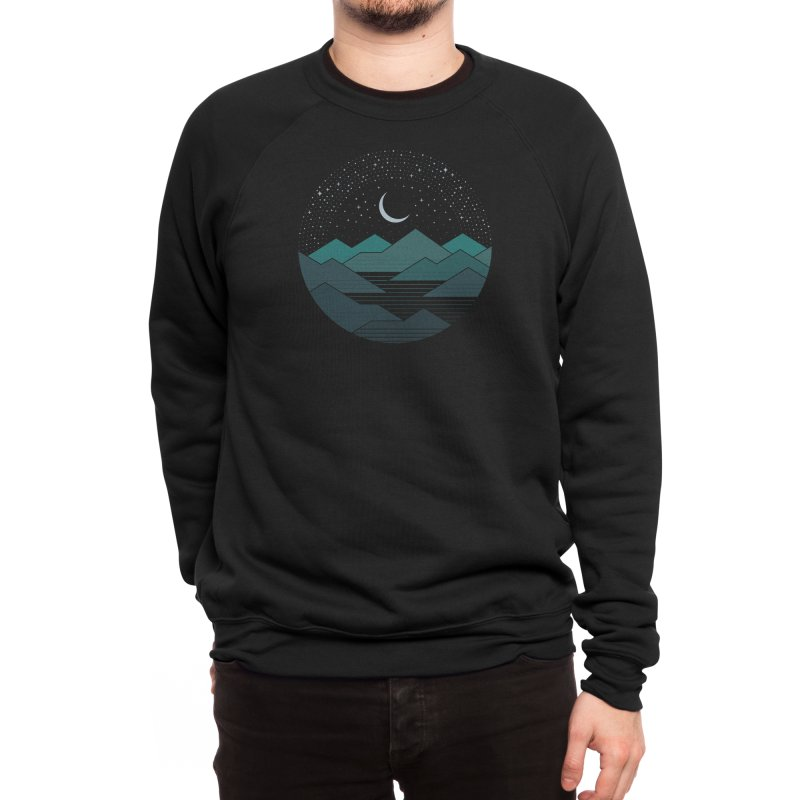 Between The Mountains And The Stars Men's Sweatshirt by thepapercrane's shop