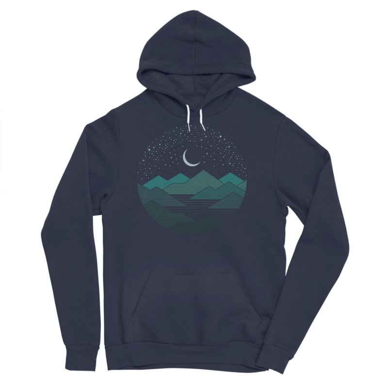 Between The Mountains And The Stars Women's Sponge Fleece Pullover Hoody by thepapercrane's shop