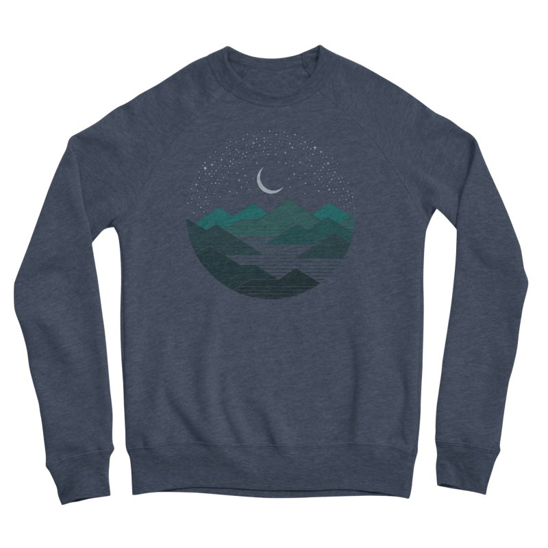 Between The Mountains And The Stars Women's Sponge Fleece Sweatshirt by thepapercrane's shop