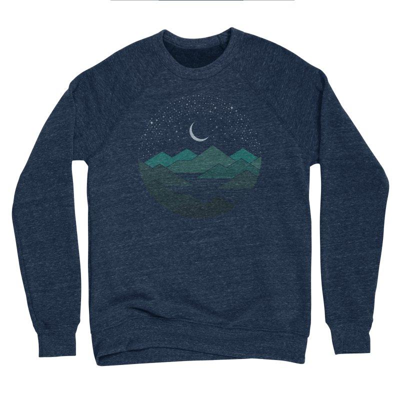 Between The Mountains And The Stars Women's Sponge Fleece Sweatshirt by thepapercrane's shop