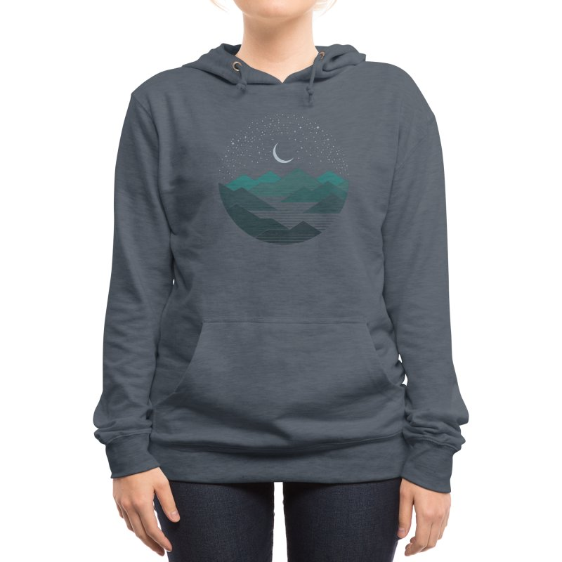 Between The Mountains And The Stars Women's Pullover Hoody by thepapercrane's shop