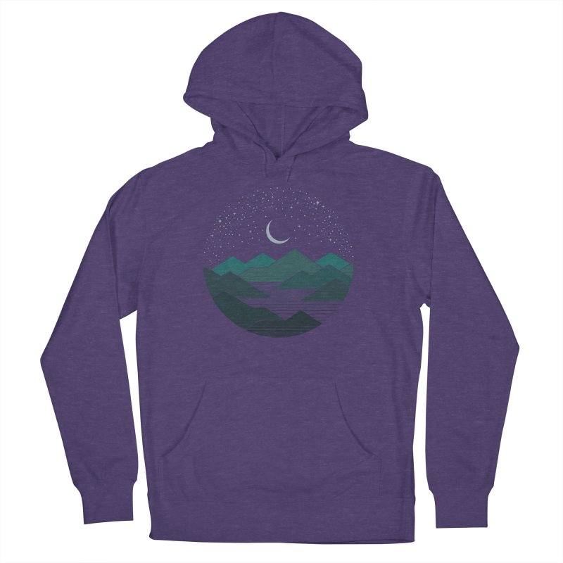 Between The Mountains And The Stars Women's French Terry Pullover Hoody by thepapercrane's shop