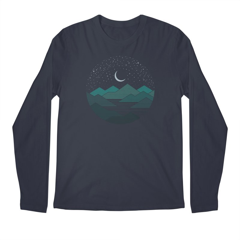 Between The Mountains And The Stars Men's Regular Longsleeve T-Shirt by thepapercrane's shop