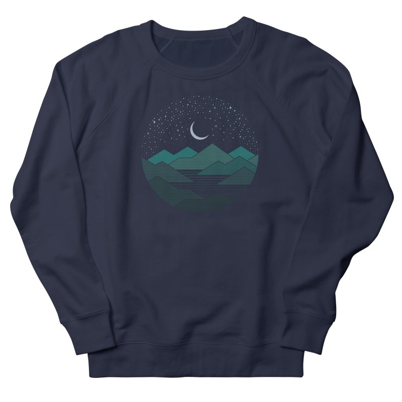 Between The Mountains And The Stars Women's French Terry Sweatshirt by thepapercrane's shop