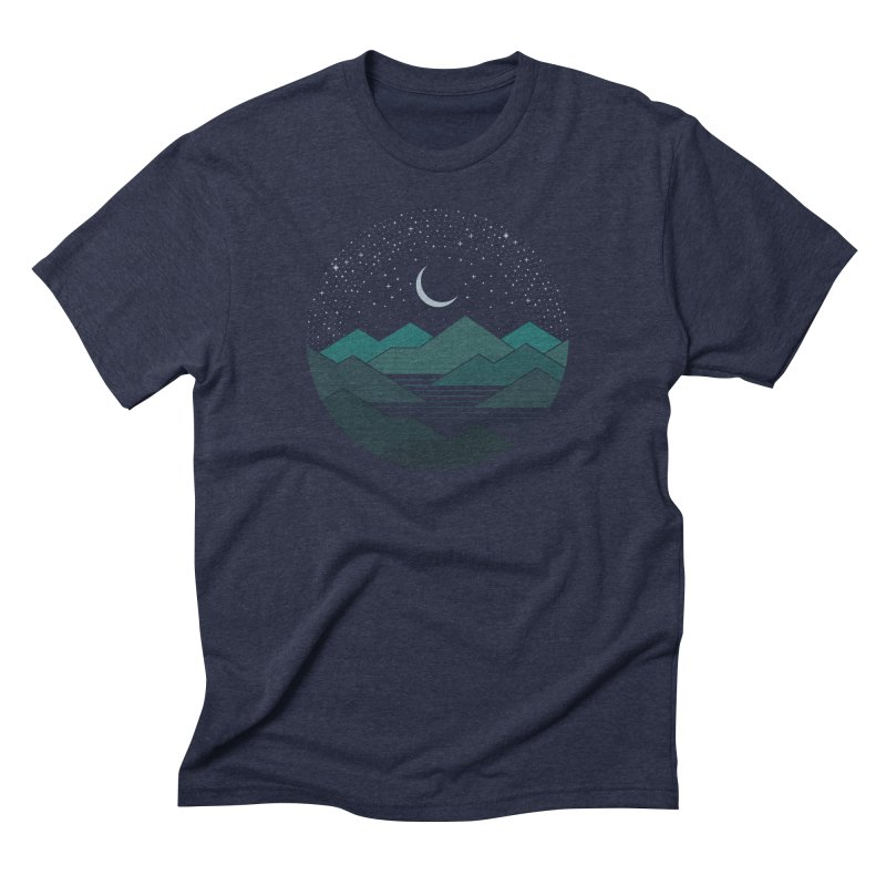 Between The Mountains And The Stars Men's Triblend T-Shirt by thepapercrane's shop