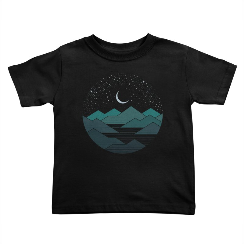 Between The Mountains And The Stars Kids Toddler T-Shirt by thepapercrane's shop