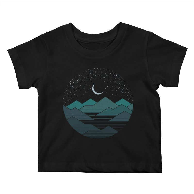 Between The Mountains And The Stars Kids Baby T-Shirt by thepapercrane's shop