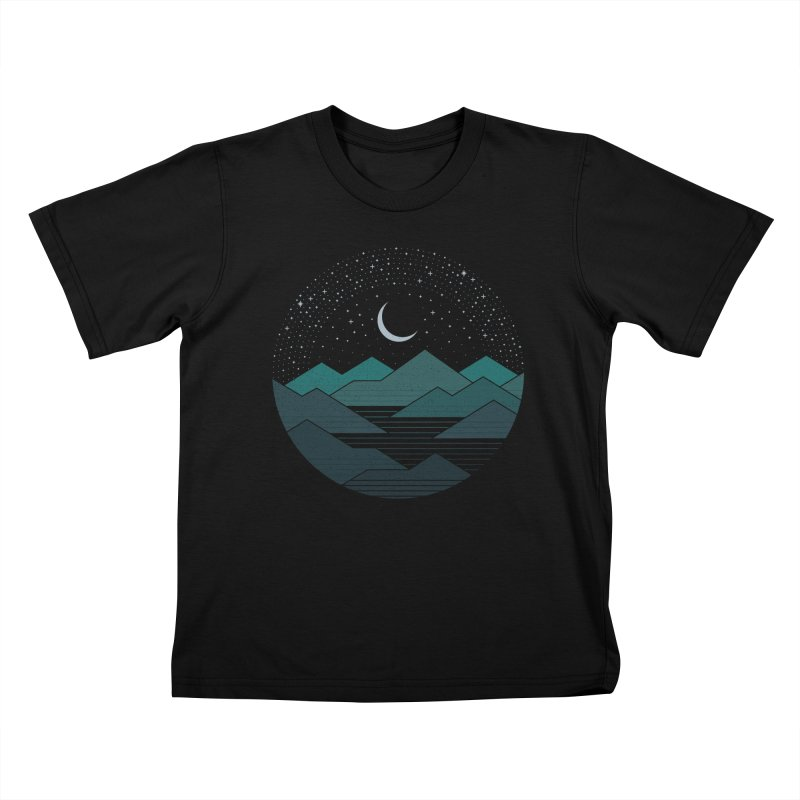 Between The Mountains And The Stars Kids T-Shirt by thepapercrane's shop
