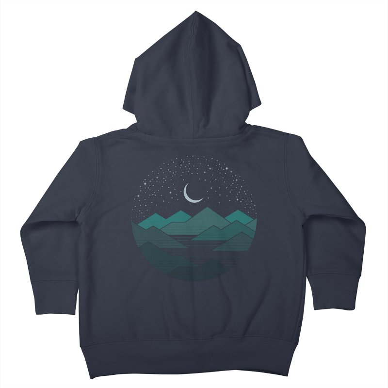 Between The Mountains And The Stars Kids Toddler Zip-Up Hoody by thepapercrane's shop