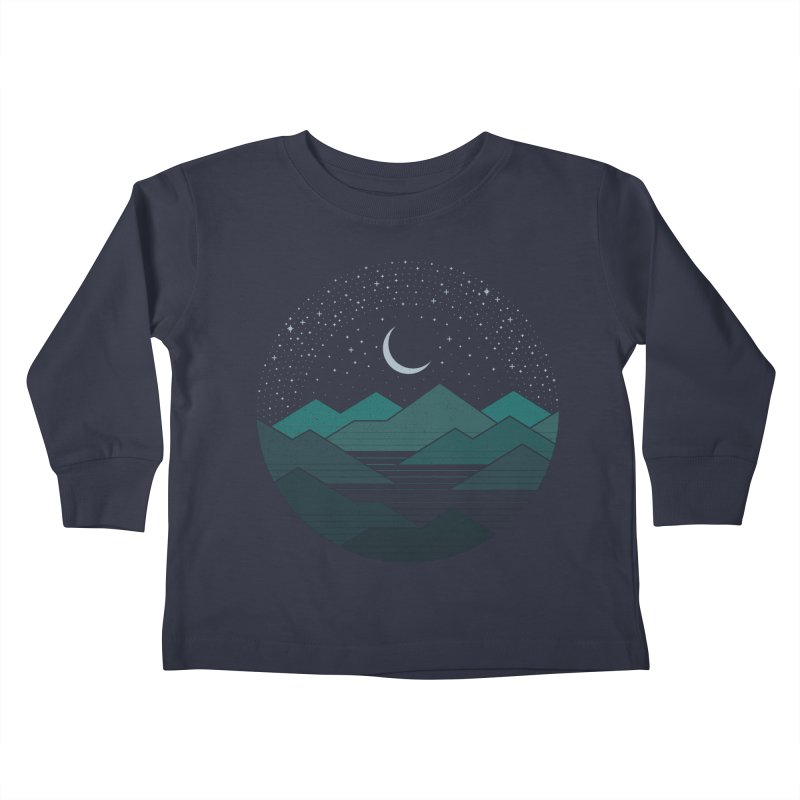 Between The Mountains And The Stars Kids Toddler Longsleeve T-Shirt by thepapercrane's shop