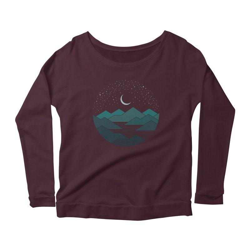 Between The Mountains And The Stars Women's Longsleeve T-Shirt by thepapercrane's shop